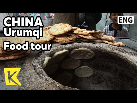 【K】China Travel-Urumqi[중국여행-우루무치]재래시장, 위구르 족 전통 빵과 국수/Food/Uygur Staple/Nang/Baozi/Dumpling/Noodle