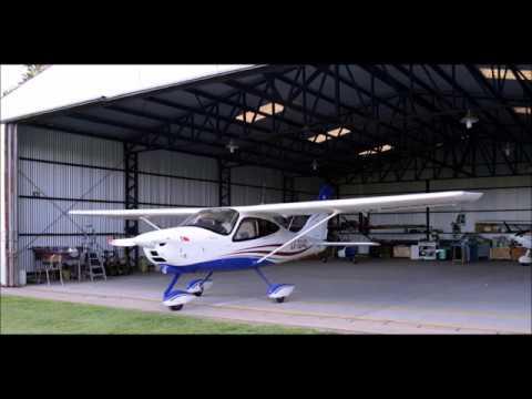 Tecnam P2008 LV-S040 en vuelo desde Pueblo Estrher 06-01-2018
