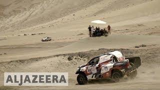 Peru Dakar rally: Palaeontologists worry about geoglyphs