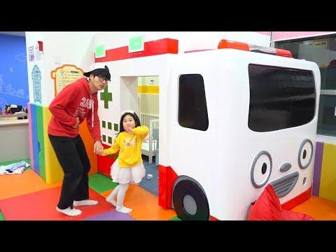 보람이의 타요 키즈카페 코난찾기 놀이 Boram And Konan Play Hide And Seek Family Fun Playtime