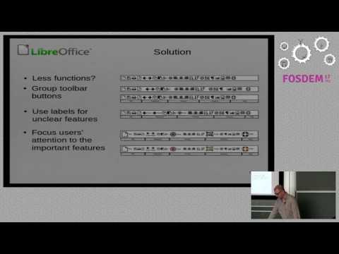 FOSDEM 2017: Contextual groups in LibreOffice's Notebookbar