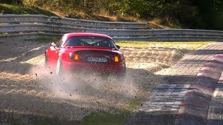 Nordschleife Highlights, Near Crash MX5, Slides & Action! 12 10 2018 Touristenfahrten Nürburgring