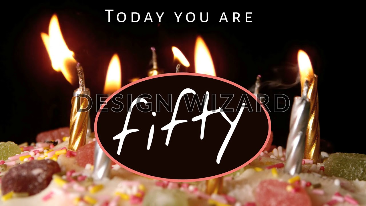 50th Birthday Video Candles Cake Edit In Seconds