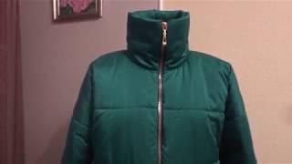 видео Стеганый пуховик большого размера