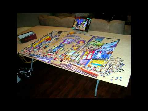 times square puzzle 4000 piece time lapse youtube. Black Bedroom Furniture Sets. Home Design Ideas