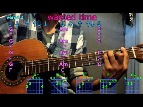 wasted time keith urban guitar chords