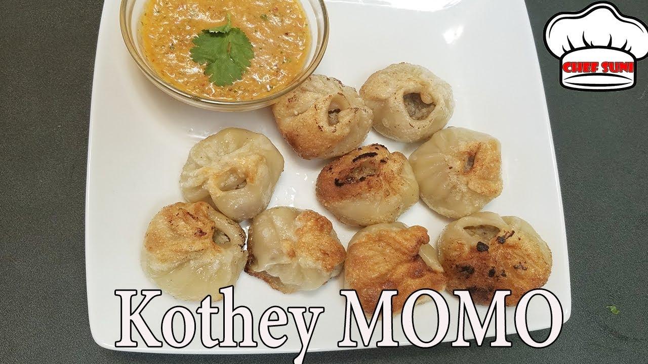 Kothey momo Nepali style | Pan Fried MoMo(Dumplings) Recipe | Nepali momo  recipe by Chef Suni
