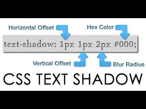 CSS3 Text Shadows