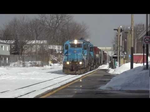 4 Unit GEXR Train Dashing Through The Snow