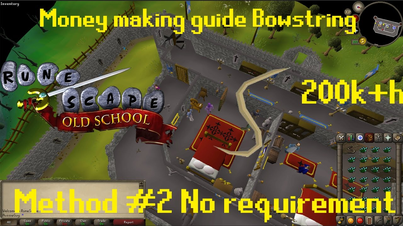 OSRS {Pay to play} Money making guide Bowstring 200k+h Method #2 No  requirement