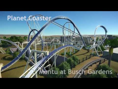 Planet Coaster Montu At Busch Gardens Tampa Youtube
