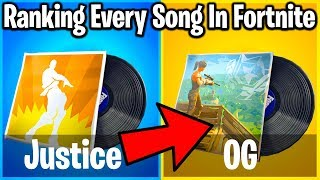RANKING EVERY FORTNITE SONG/LOBBY MUSIC FROM WORST TO BEST!