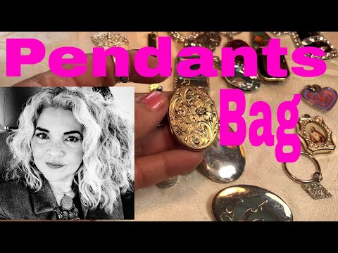 Jewelry Jar Unboxing Chicago Jars A Mystery Bag Of Pendants Only