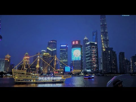 Shanghai Travel Tour - East Nanjing Road to The Bund Former British settlement best skyline 2017