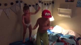 Colin Julian Diego Jumping In Bed Cars Planes Pixar Disney Spiderman Kid Superkid Supeman Kids