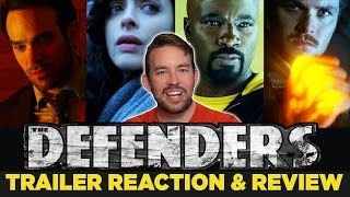 The Defenders Official Trailer REACTION & REVIEW!