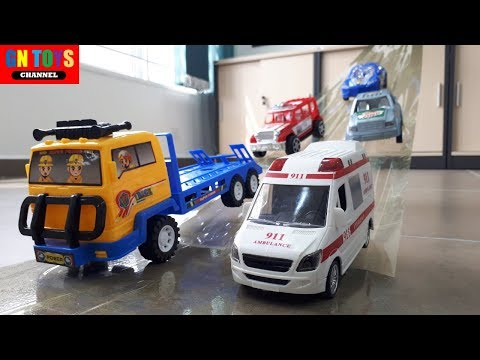 Toy Cars Tape Slide Play for Kids| Car Toys for Kids| Kids Learn Vehicle Names| Learn Cars Toy Names