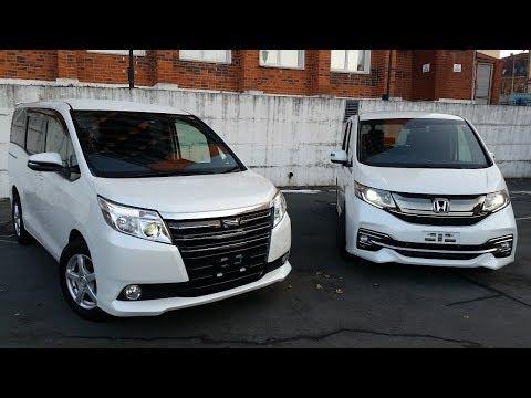 Хонда Степвагон и Тойота Ной - Сравнение микроавтобусов