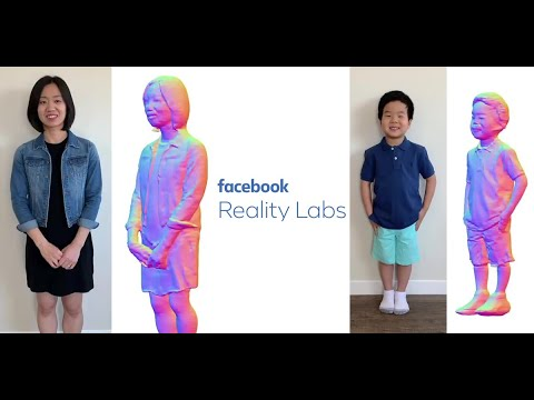 Facebook Research: Full Body Avatar Generation From 1 Camera