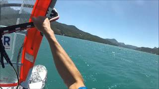 vakantie 2014 windsurfen Lac de Serre-Ponçon camping le roustou
