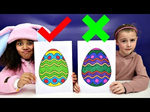 3 MARKER CHALLENGE Coloring Easter Eggs | Toys AndMe