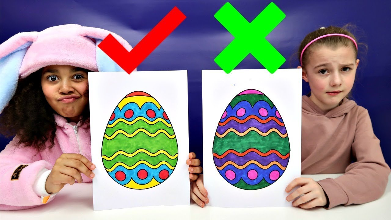 3 Marker Challenge Coloring Easter Eggs Toys Andme Doovi