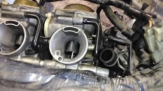 Yamaha vstar 650 . Carb n intake boot rebuild.(13)