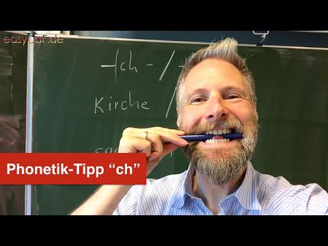 Deutsch lernen mit Flüchtlingen - Phonetik-Tipp -ch