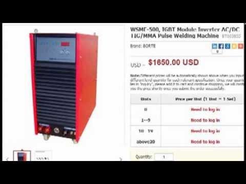 AC DC impulsions TIG machines de soudage en usine en Chine