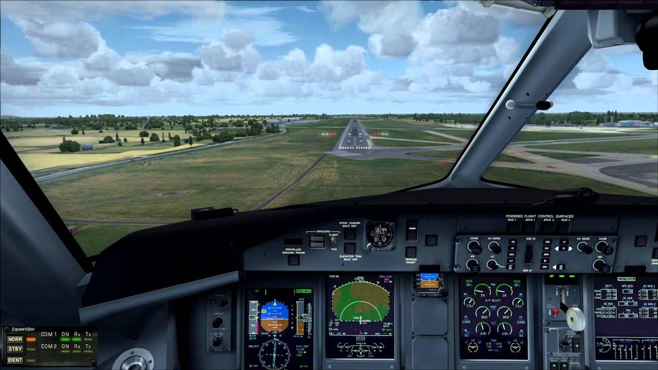 FSX - Approach into Dublin airport