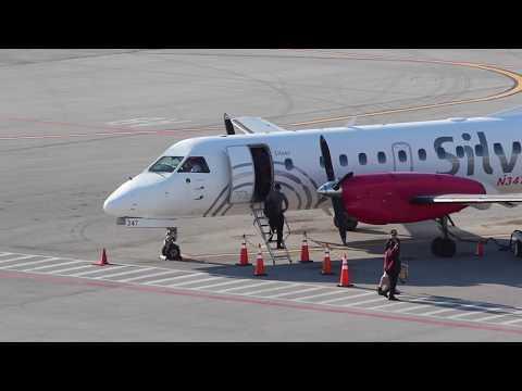 Silver Airways Saab 340 Arrival at West Palm Beach Airport (PBI)