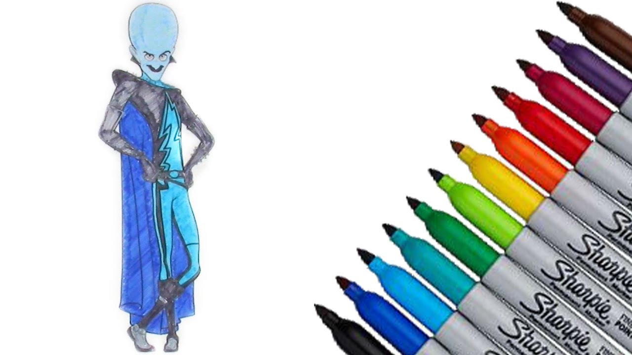 Megamind DreamWorks Animation Coloring Page 2017 New HD Video For Kids