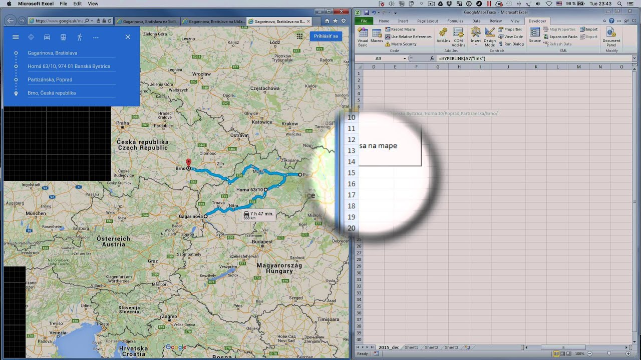 google maps direction from excel. google maps direction from excel  youtube