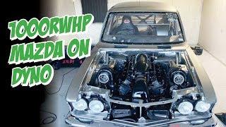 Twin-turbo LS in a Mazda! 1000rwhp dyno