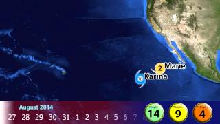 2014 Pacific Hurricane Season Animation