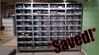 Scrapyard find! Awesome industrial cabinet restauration
