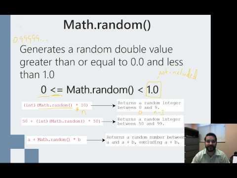 Using Java's Math.random() Method