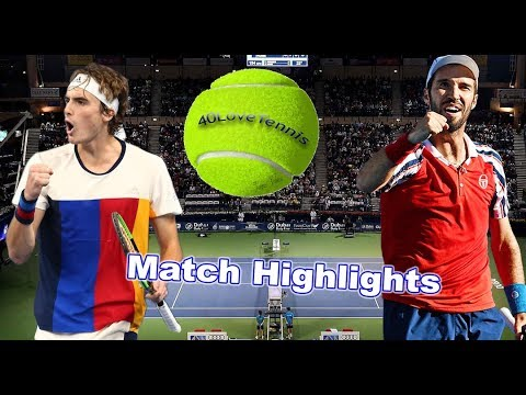 Stefanos Tsitsipas vs Mikhail Kukushkin - DUBAI DUTY FREE 2018  Round 1