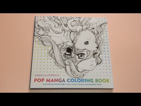Flip through pop manga coloring book by camilla derrico