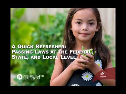A Quick Refresher: Passing Laws at the Federal, State, and Local Level (2017)