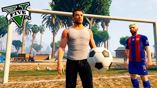 GTA V PC MODS - RETOS DE FUTBOL CON RONALDO Y MESSI EN GTA 5 ! WTF - ElChurches