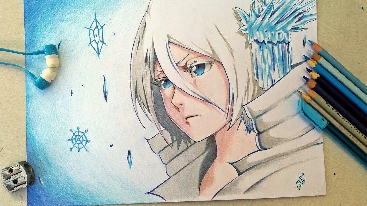 Drawing Rukia Kuchiki Bankai Bleach Öリーチ Youtube