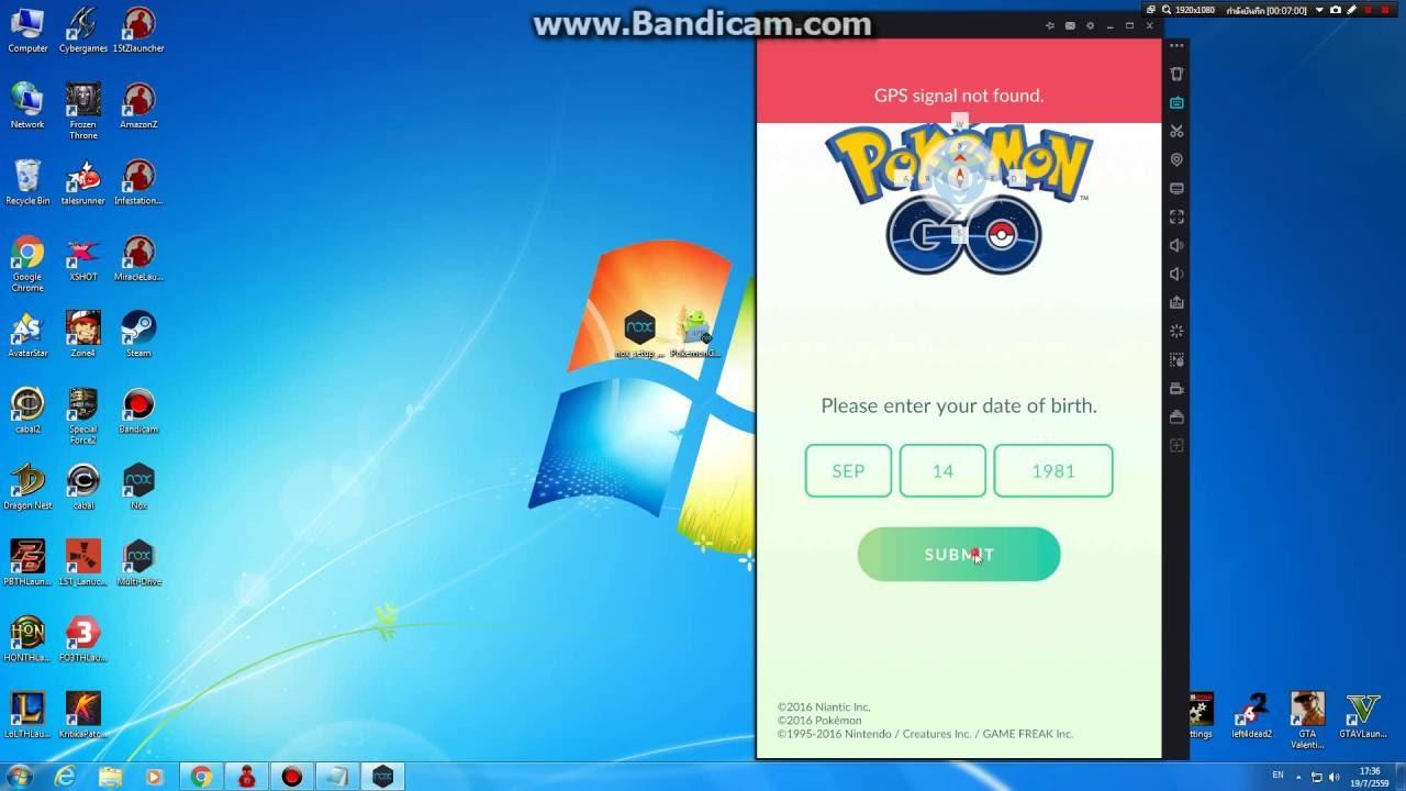 pokemon go nox 2017