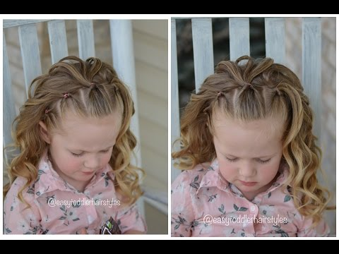 Simple Girl Hairstyle: Flips Headband With Curls