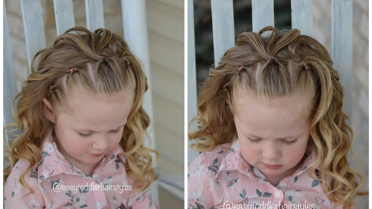 Simple Girl Hairstyle Flips Headband With Curls