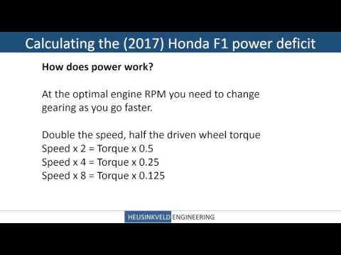 Fun With Physics 1: Calculating the Honda F1 power gap to Mercedes
