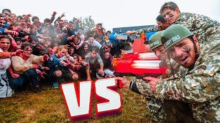 100 ABONNÉS Vs 4 YOUTUBERS ! (Nerf Zombies)