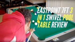 EastPoint 7ft 3 in 1 Swivel Pool Table Review by TechDeExporter