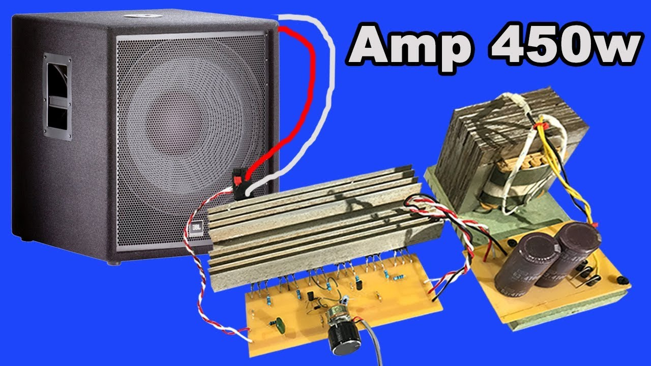how to make audio amplifier circuit board 450w by yourseft at home 2 [ 1280 x 720 Pixel ]