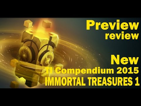видео: dota 2 Открытие immortal treasures 1 /Иммортал сундука ti compendium 2015